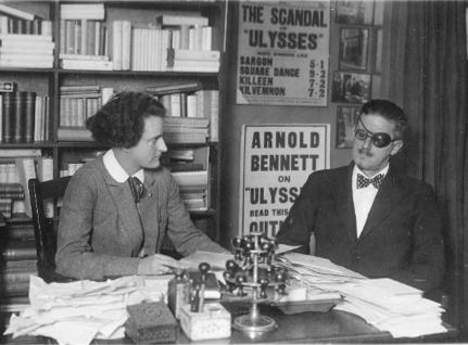 American University of Prague, Prague Humanities Institute, Sylvia Beach and James Joyce at  Shakespeare & Co. Bookstore in Paris.
